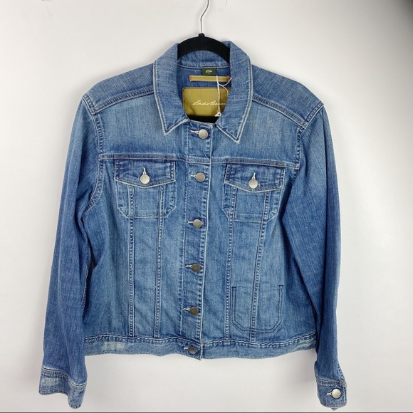 Eddie Bauer Jackets & Blazers - Eddie Bauer Denim Distressed jean jacket